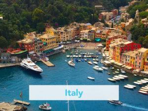 Italian harbor with boats