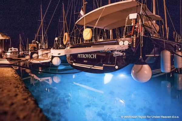 Sailing yacht named Petrovich