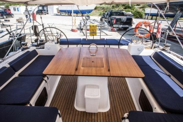 Deck of a sailing boat in Croatia