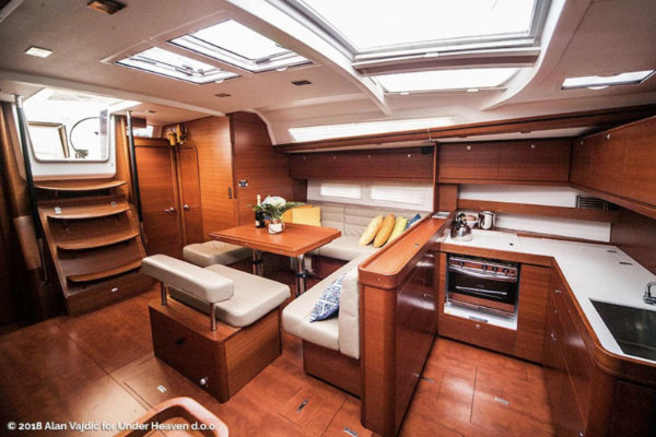 Cooking area in sailing yacht